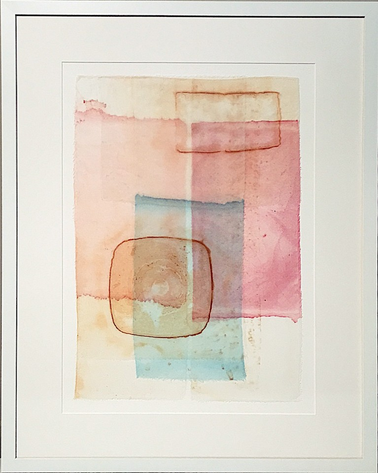 Carrie McGee, Veils Watercolor on silk and paper, framed