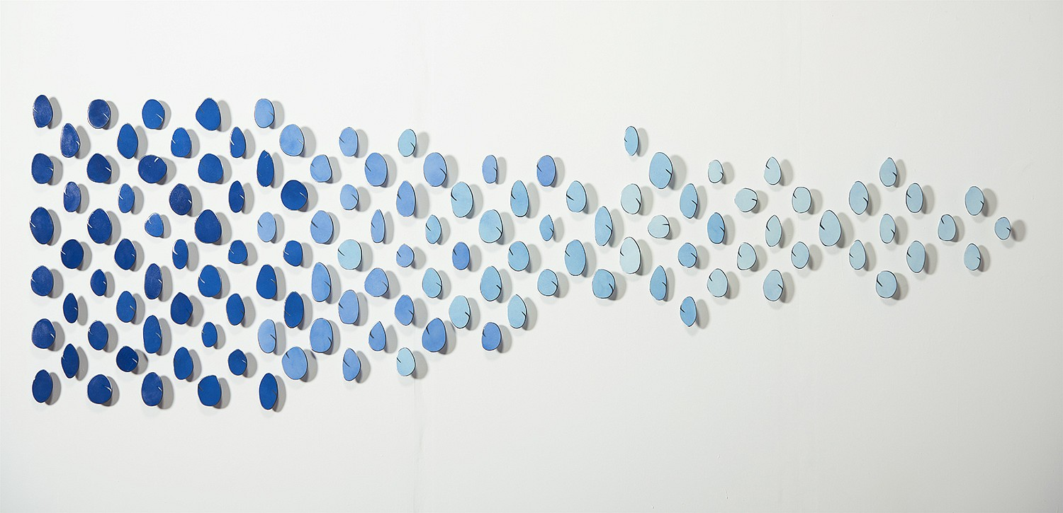 Carolina Sardi, Blue Installation (SOLD) Painted Steel