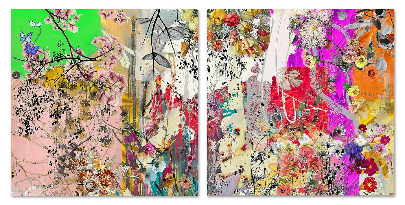 Irene Mamiye, Homage Diptych 7867 Dye sublimation print on aluminum