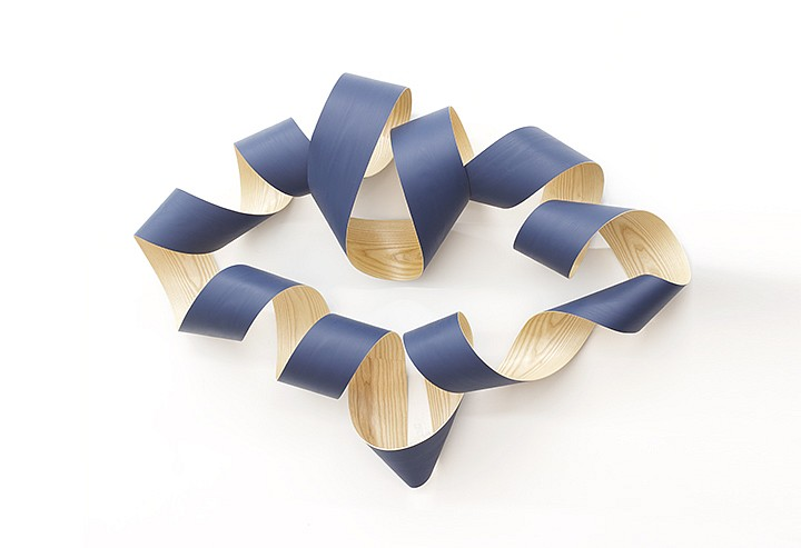 Jeremy Holmes, Untitled (Royal Blue) Painted white ash