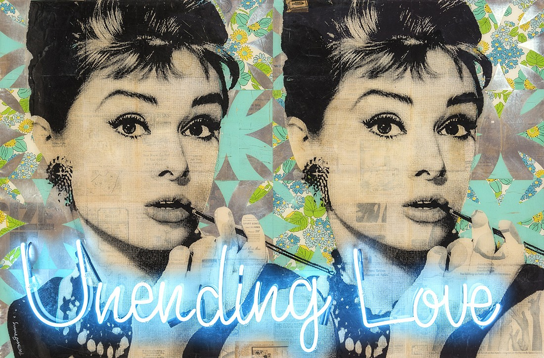 Robert Mars, Unending Love (Audrey) Mixed media