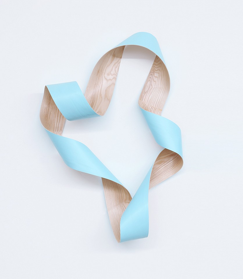 Jeremy Holmes, Untitled Light Blue B Painted white ash
