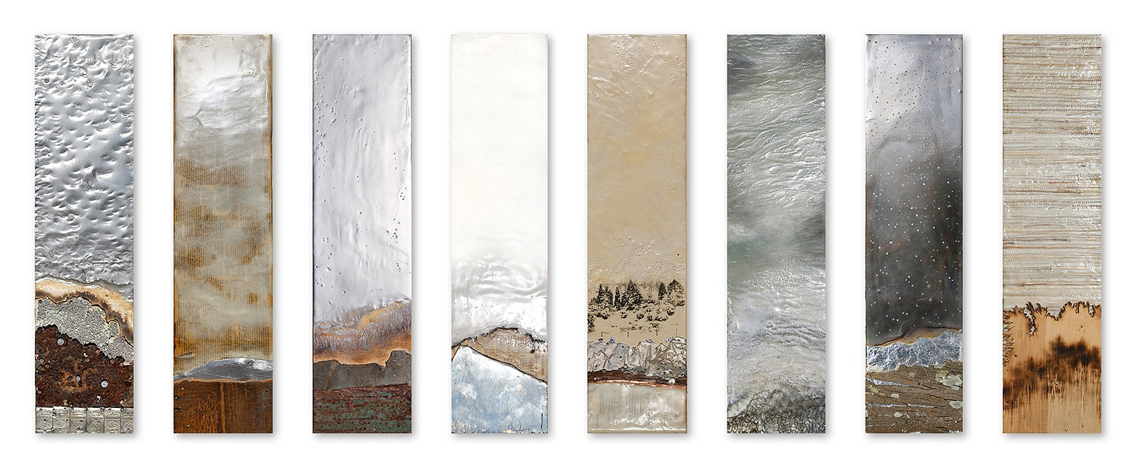 Robin Luciano Beaty, Pinnacle Encaustic & mixed media on panel