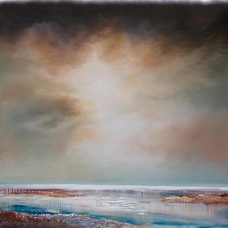 Robin Luciano Beaty, Quiescence No.22 Encaustic & mixed media on panel