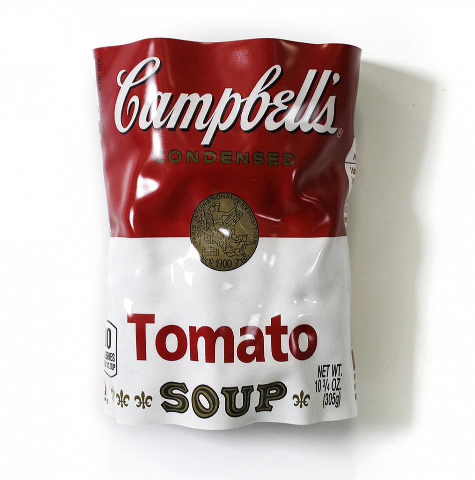 Paul Rousso, Tomato Soup Series #4 Mixed media on hand-sculpted polystyrene