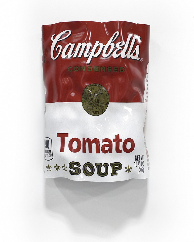 Paul Rousso, Tomato Soup Series #1 Mixed media on hand-sculpted polystyrene
