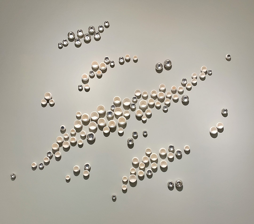 Lucrecia Waggoner, Drift Away Porcelain with metal leaf