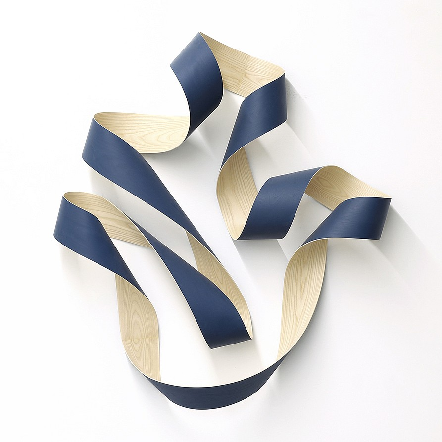 Jeremy Holmes, Untitled Blue (Sold) Painted white ash