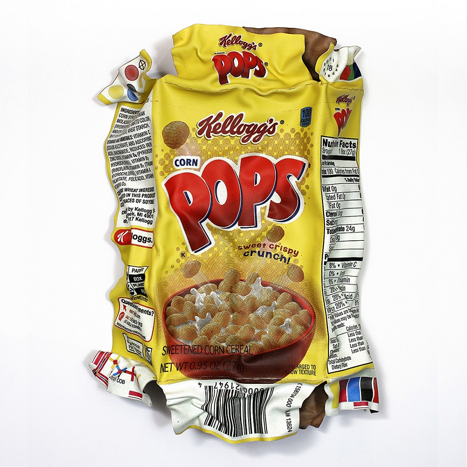Paul Rousso ,   Corn Pops Fun Size #2      Mixed media on hand-sculpted polystyrene ,  43 x 31 x 9 in.