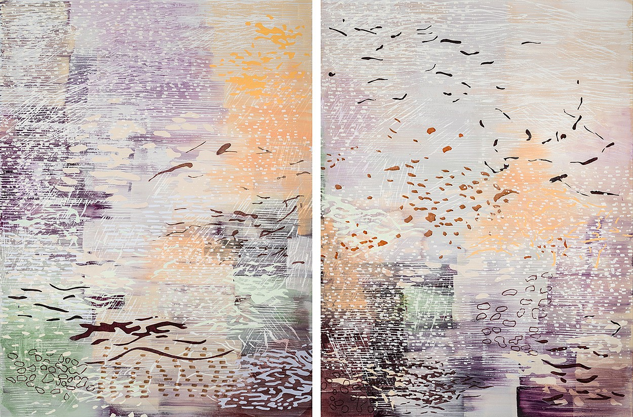 Laura Fayer, A Poetic Life Acrylic & Japanese paper on canvas