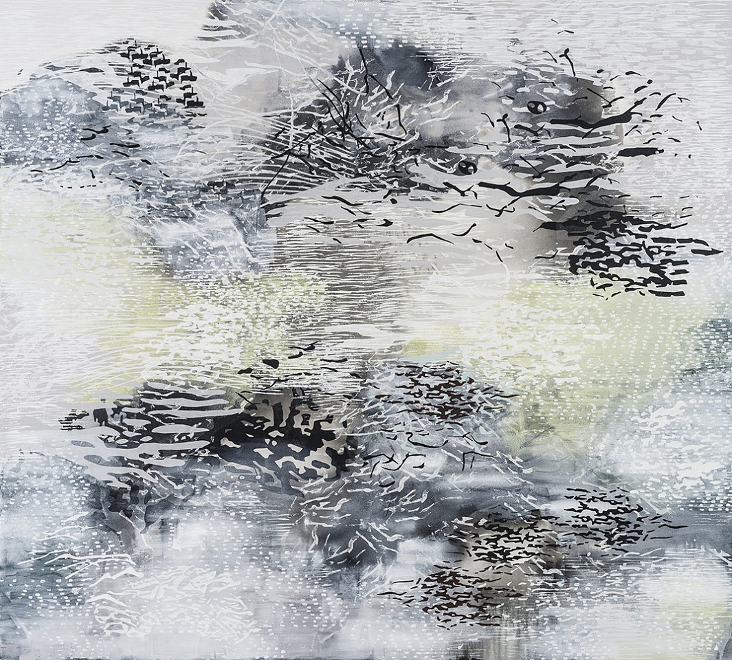Laura Fayer, North of Ordinary Acrylic & Japanese paper on canvas