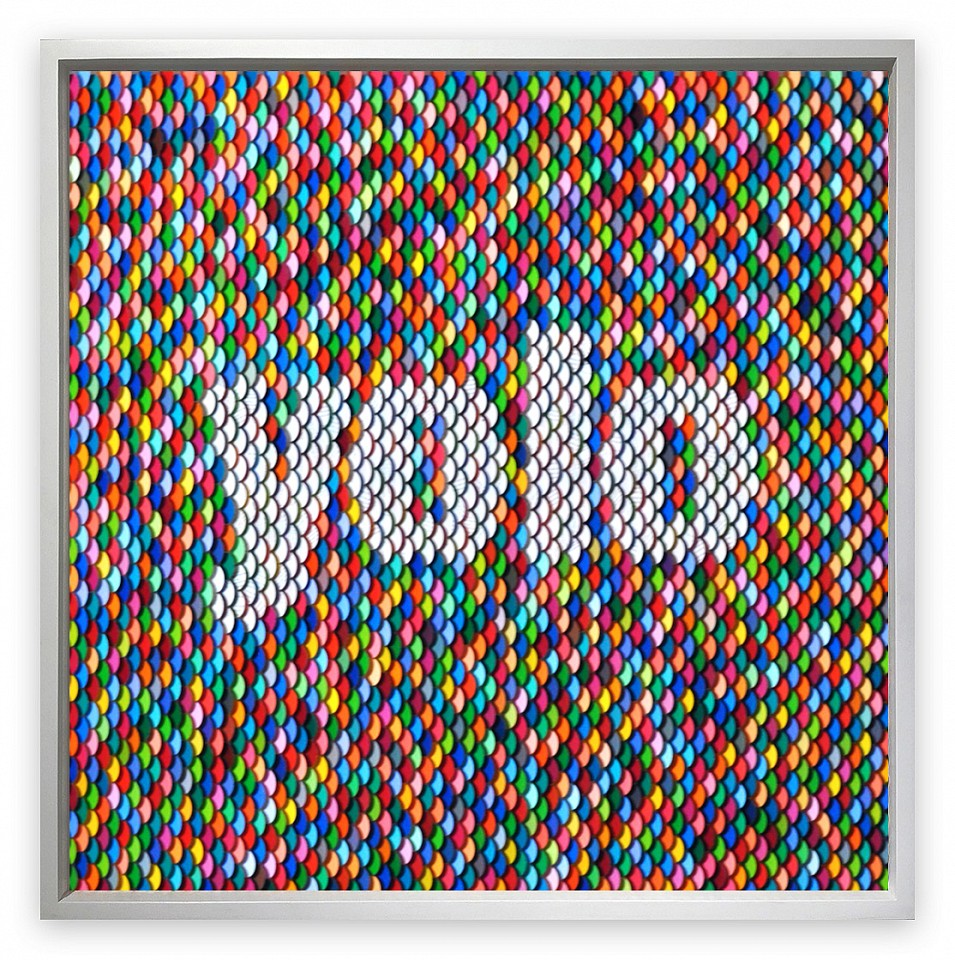 Peter Combe, YOLO Hand-punched paint chips on archival board