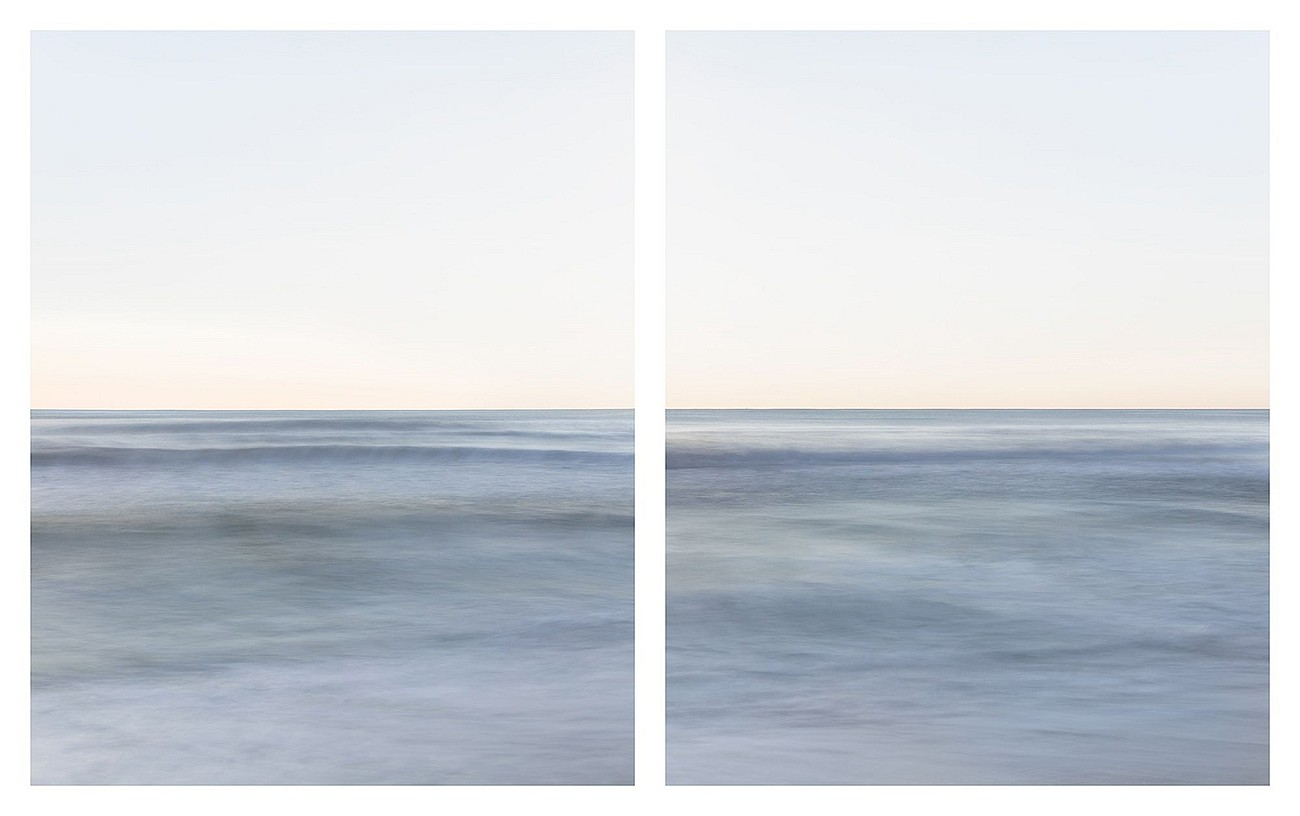 Jonathan Smith, Horizon #27 diptych (East Hampton, NY) Chromogenic print