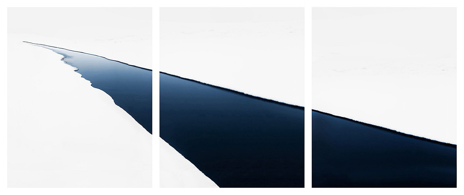Jonathan Smith ,   Stream #43 (triptych)      Chromogenic print ,  30x72