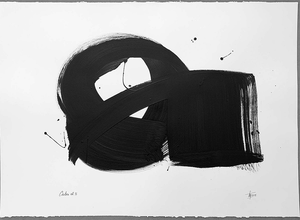 Tim Forbes, Carbon 14 Series No. 2 Acrylic on watercolor paper