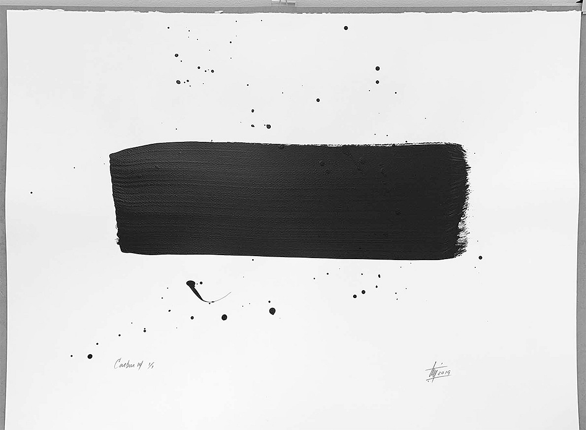Tim Forbes, Carbon 14 Series No. 14 Acrylic on watercolor paper